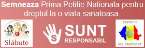 petitie drept la viata sanatoasa Primele 1000 de semnaturi la Prima Petitie Nationala pentru dreptul la o viata sanatoasa